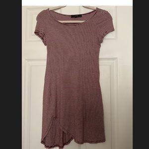 Vibe Sportswear Red Striped Jersey Tshirt Dress S
